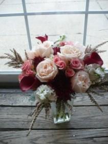 """Monticello Garden Roses and Calla Lilies 16""""tall"""