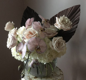 Moody Anahaw Phalaenopsis  Vase Arrangement