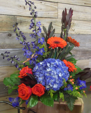Moody Blues Container Arrangement in Venice, FL | ALWAYS AN OCCASION FLORIST & DECOR
