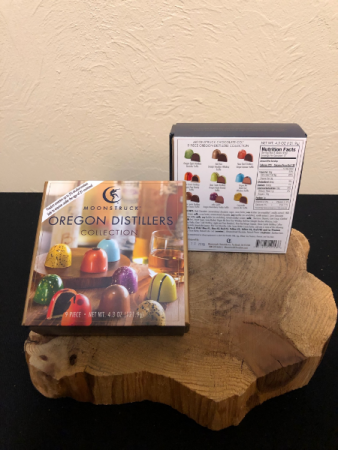 Moonstruck Chocolates Oregon Distillers Collection MUST BE PRESENT TO PROVIDE PROOF OF BEING 21 OR OLDER TO ORDER
