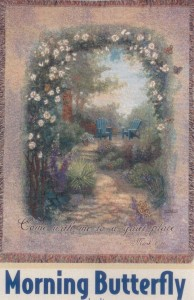 Morning Butterfly Sympathy Tapestry
