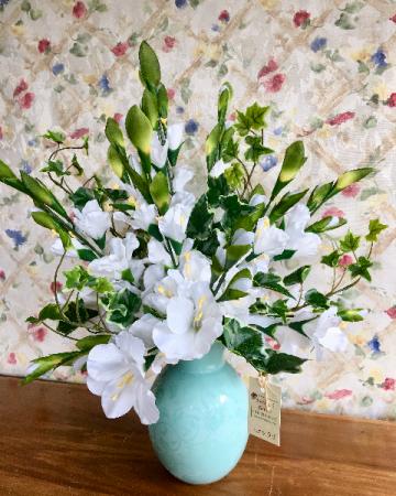 Morning Glory silk  vase