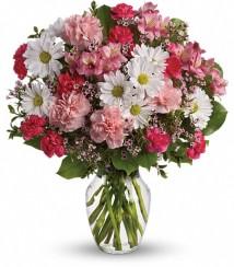 Morning glory Vase arrangement