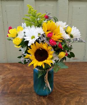 Morning Meadow Vase Arrangement in Rockford, IL | Pepper Creek