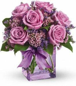Morning Melody Bouquet Cube Arrangement