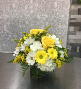 Morning Sunshine in a Vase  Mixed Bouquet