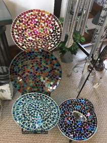 "Mosaic Bird Baths Please note preferred color in Additional Information"" section"