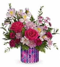 Mosaic Cylinder Bouquet Teleflora's Stained Glass