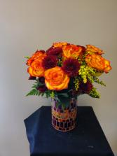 Mosaic Fall vase