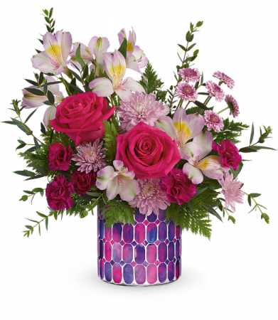 Mosaic Magic Vase Arrangement