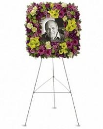 Mosaic of Memories Easel Wreath Arrangement