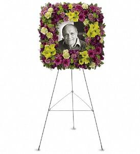 Mosaic of Memories Square Easel Wreath  in Las Vegas, NV | Blooming Memory