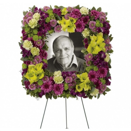 Mosaic of Memories Square Easel Wreath