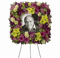 Mosaic of Memories Square Easel Wreath Tribute Funeral Arrangement