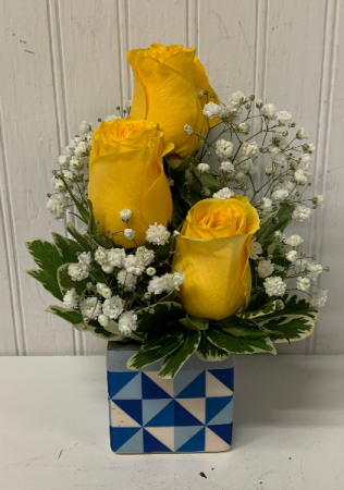 Mosaic Yellow Roses