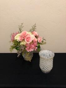 Mosiac of Love Compact Keepsake Vase Arrangement