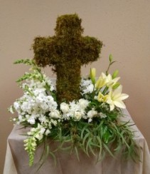 Moss Table Cross - AWF14C Sympathy