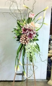 MOST MODERN SYMPATHY Standing Spray in Texas City, TX | FROM THE HEART FLORIST
