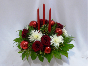 MOST WONDERFUL TIME OF YEAR - CHRISTMAS FLOWERS Flowers For Christmas, Christmas Centerpieces, Christmas Candle Centerpieces, Flowers Prince George BC