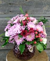 Mostly Mauve vase
