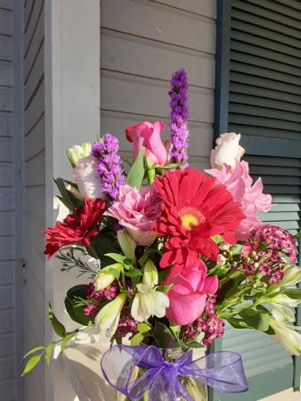 mostly purple vase