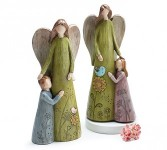 Mother and Child Angel figurines