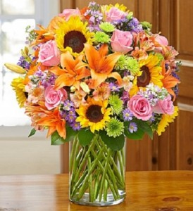 Mother Load of Flowers Vase Of Fresh Flowers in Largo, FL | Rose Garden Florist