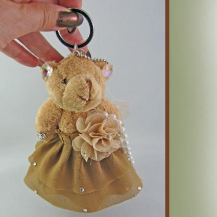 Tanna Bear Keychain Crystal Jewelry