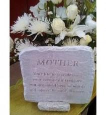 "Mother Stone 12"" x 11"" Memorial Stone"