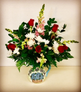 Mothers Are Special Floral Design in Ceramic Vase Pitcher