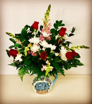Mothers Are Special Floral Design in Ceramic Vase Pitcher in Plainview, TX | Kan Del's Floral, Candles & Gifts