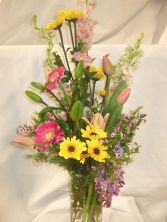 Mother's Brightness Vase arrangement