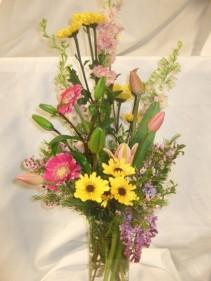 Mother's Brightness Vase arrangement