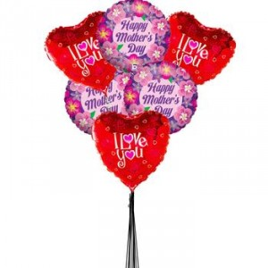 Mother's Day Assorted 6 Mylar Balloon Bouquet