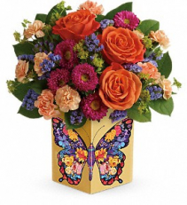 mothers day butterfly  mixed arrangment