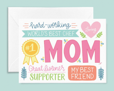 Mother's Day Card - #1 Mom