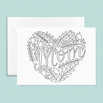 Mother's Day Card - Color Your Own