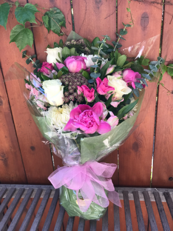 Lush Pink Purple and White Cut Bouquet