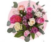 Mothers Day Designer Dozen Wrapped roses - vase included