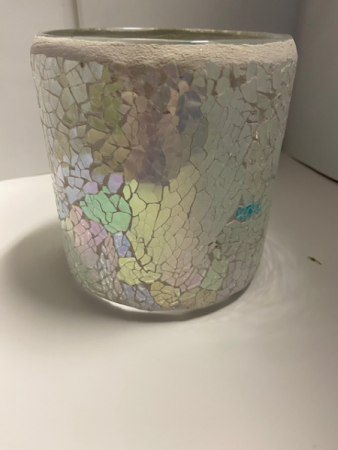 Mothers day or any time Cylinder vase  Beautiful Iridescent colored  cylinder vase