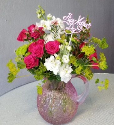 Mother's Day Pitcher Vase Arrangement