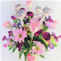 Mother's Day Pops 'n Posies Sweet Blossoms