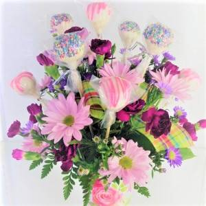 Mother's Day Pops 'n Posies Sweet Blossoms  in Jamestown, NC | Blossoms Florist & Bakery