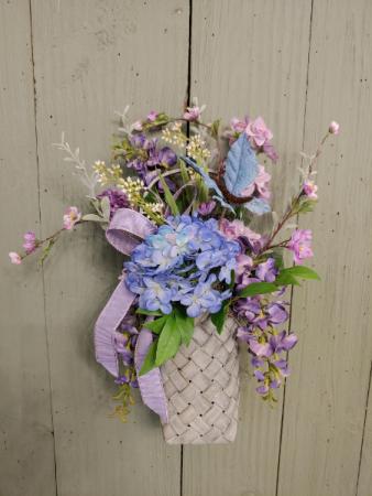 Mothers Day Silk Special Basket  Silk Hanging Basket