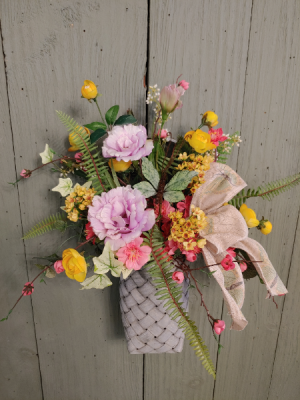 Mothers Day Silk Special Basket  Silk Hanging Basket in Morris, IL | Floral Designs & Gifts