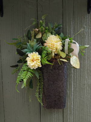 Mothers Day Silk Special  Galvanized Hanging Bucket in Morris, IL | Floral Designs & Gifts
