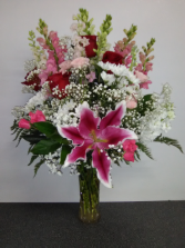 BIRTHDAY SPECIAL NO 1 ROSES, LILIES
