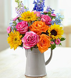 Mothers Day Spring Watering Can Beautiful Spring Bouquet in Keepsake