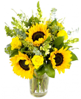 Everyday Sunshine Floral Arrangment in Colorado Springs, Colorado | ENCHANTED FLORIST II