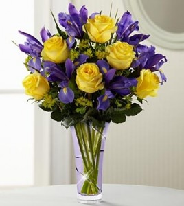 Golden Roses Mixed Vase Bouquet  in Port Stanley, ON | FLOWERS BY ROSITA